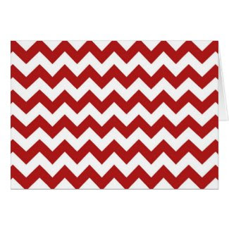 Red and White Zigzag Greeting Card