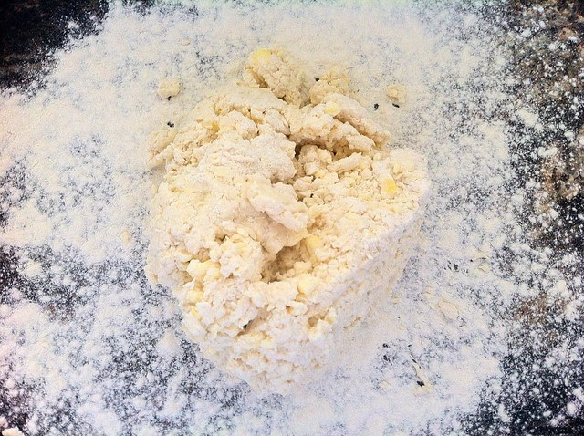 Dough Transferred to Floured Surface