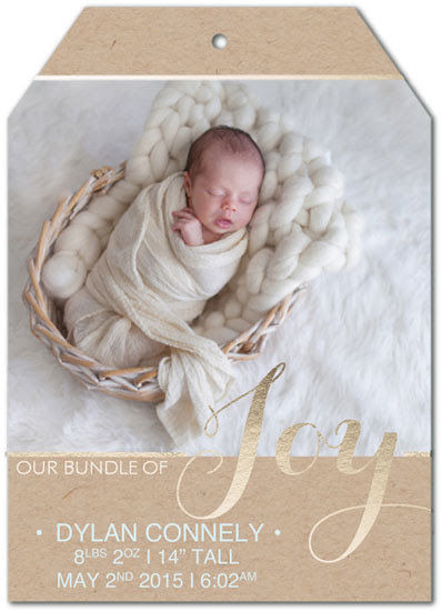 birth announcements - Baby's 1st Tag