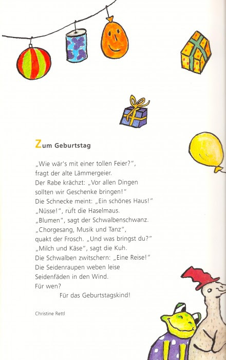 Geburtstag Gedicht Kurz Kinder