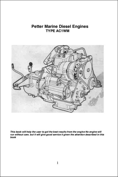 Petter AC1WM Diesel Engine Operation Manual - MARINE