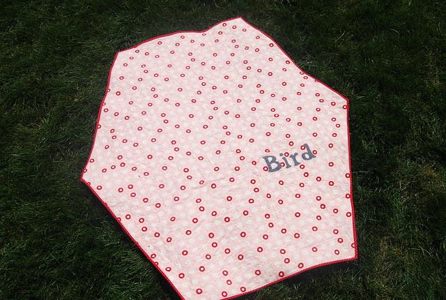 back of Bird's bliss quilt