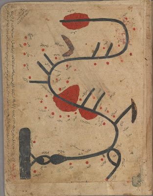 Tigris Map - river map from Islamic treatise