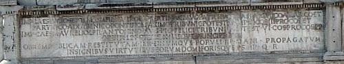 Arch Sept inscription