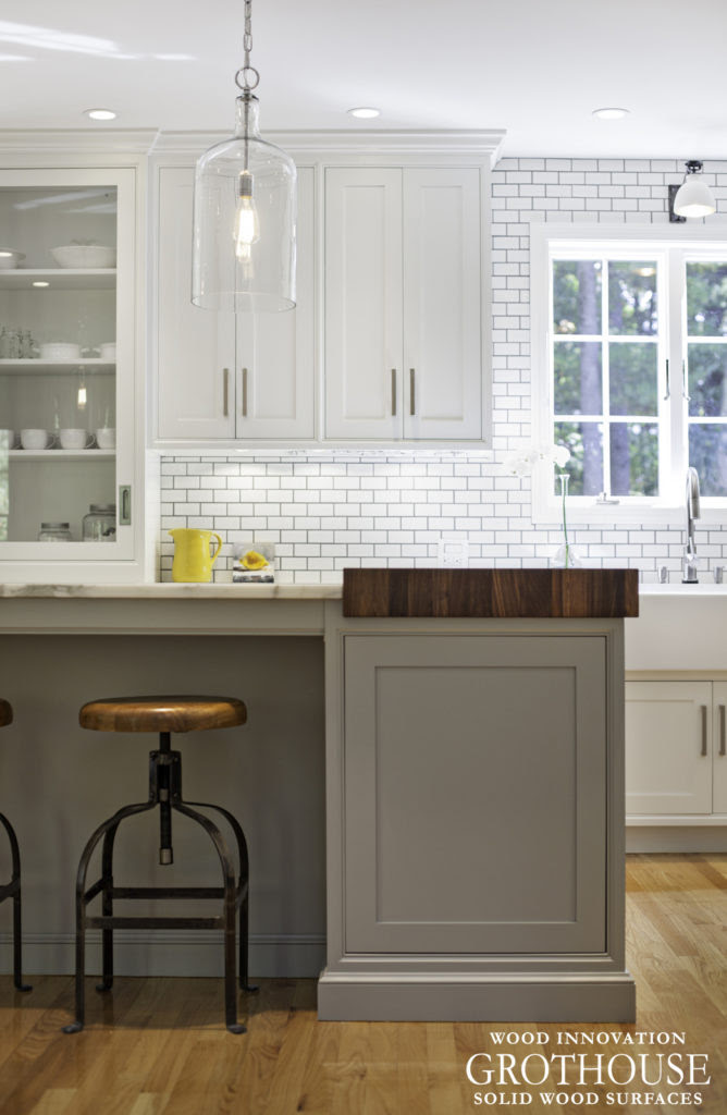 Gray Cabinets with Wood Countertops - Wood Countertop ...