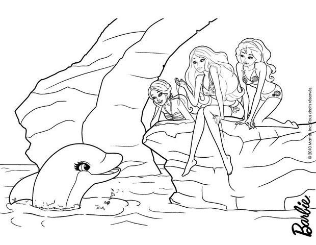 ausmalbild delfin kostenlos  cartoonbild