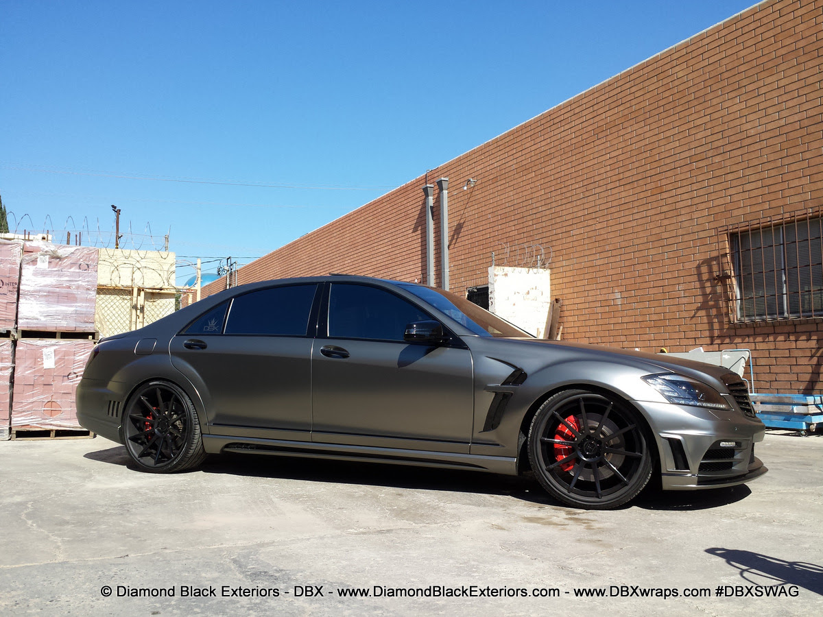 Frozen Black Chrome Wrap Mercedes-Benz S63 - WRAPFOLIO