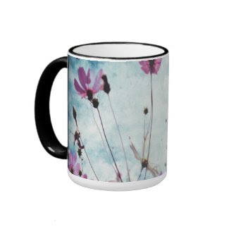 Visions In Pink Floral Design Coffee Tea Mug mug