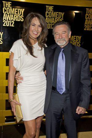 Robin Williams, y su esposa Susan Schneider, en Nueva York en 2012.