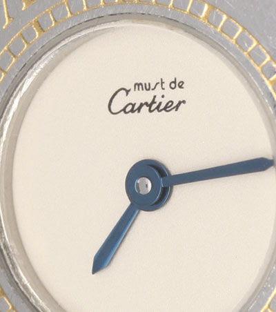 Foto 3, Cartier 21 Must.de Cartier Stahl-Gold Damen-Armband-Uhr, U1519