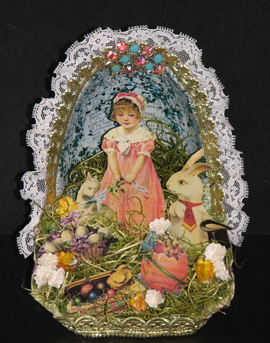 Easter Collage - Recycled Reese's Container 020