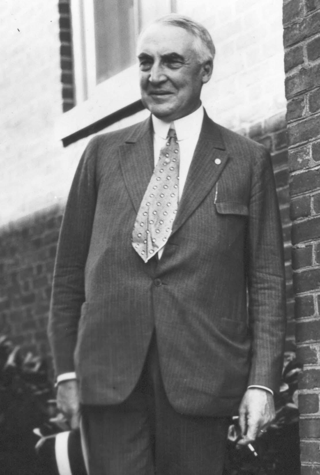 United States President Warren Gamaliel Harding