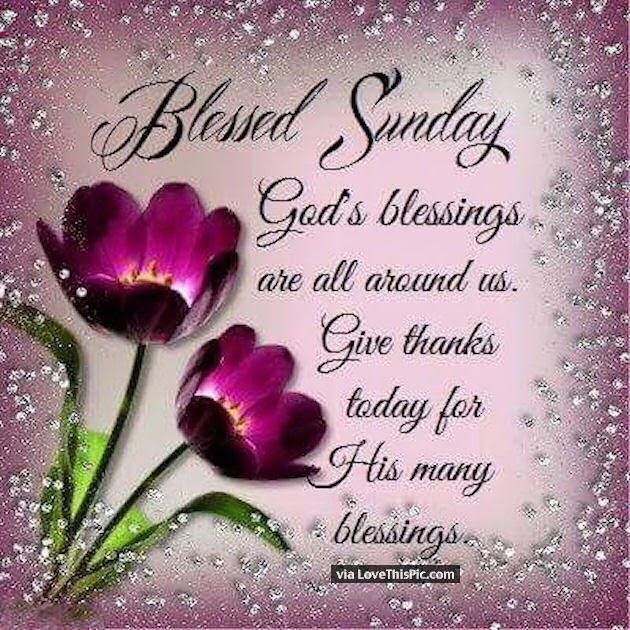 Blessed Sunday God Blessings Are All Around Us Pictures Photos And
