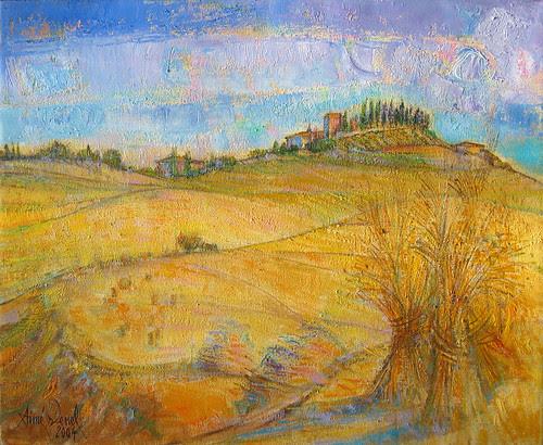 Toscane, le blé en gerbes