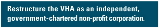 Restructure the VHA