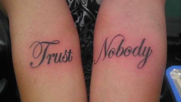 Trust Nobody Tattoo Designs Images