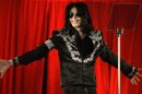 FILE - This March 5, 2009 file photo shows singer Michael Jackson announcing his concerts at the London O2 Arena. Jackson's words and music rang through a courtroom once again on Monday, April 29, 2013, this time at the start of wrongful death trial, as a lawyer tried to show jurors the pop singer's loving relationship with his mother and children. (AP Photo/Joel Ryan, file)