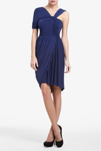 BCBGMAXAZRIA Christina Asymmetrical Dress - Dress, Jewel Tones