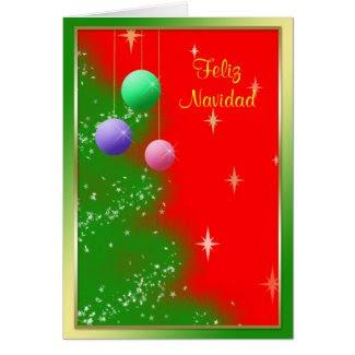 Tarjeta de Navidad - Ornamentos