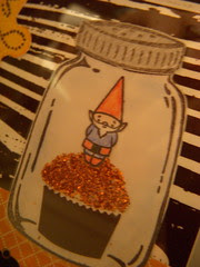 Gnome in a jar on a cupcake