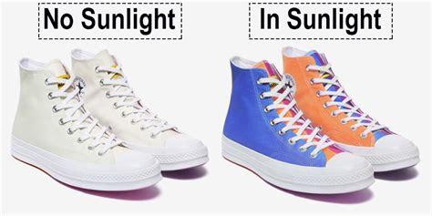 converse shoes  change colour  exposed