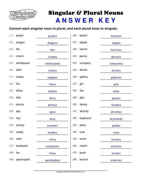 proper nouns worksheet  grade nouns worksheet  grade   nouns worksheet singular