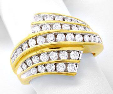 Foto 1, Super-Topmoderner Ring, gespannte Brillanten Luxus! Neu, S8456