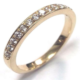 0.22 ct Pave Set Wedding Engagement Band Ring Diamond 18k