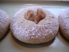 heart nut cookies