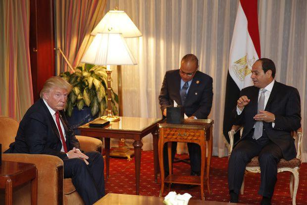 Donald Trump et le président égyptien Abdel Fattah al-Sissi en septembre 2016 à New York/