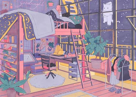 pin  cocoharu  anime rooms   aesthetic art