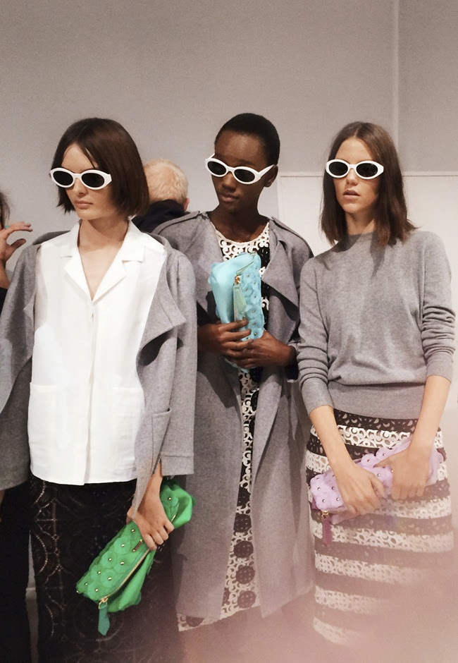 3 Backstage at the Burberry Prorsum Womenswear Spring_Summer 2014