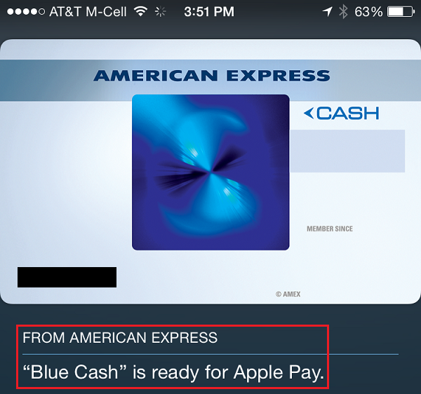 Set up Apple Pay in Passbook on your iPhone 6 / Plus