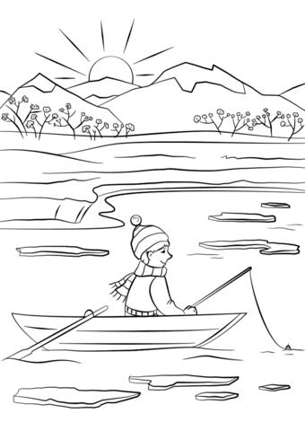 Dibujo De Pesca De Primavera Para Colorear Dibujos Para Colorear