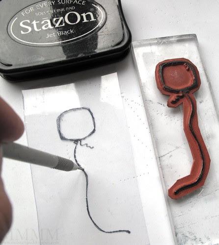 balloon string piercing template