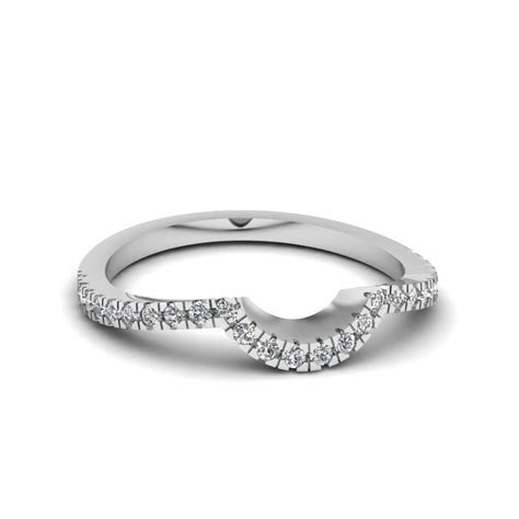 2019 Popular Curved Wedding Bands For Women