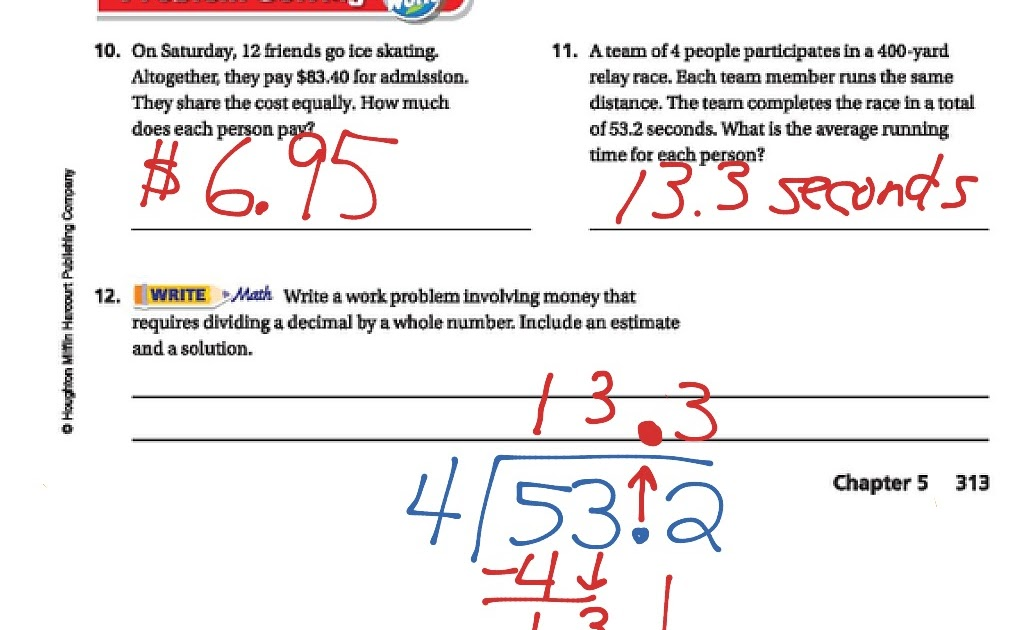 Go Math Lesson 5 4 Answers 5th Grade