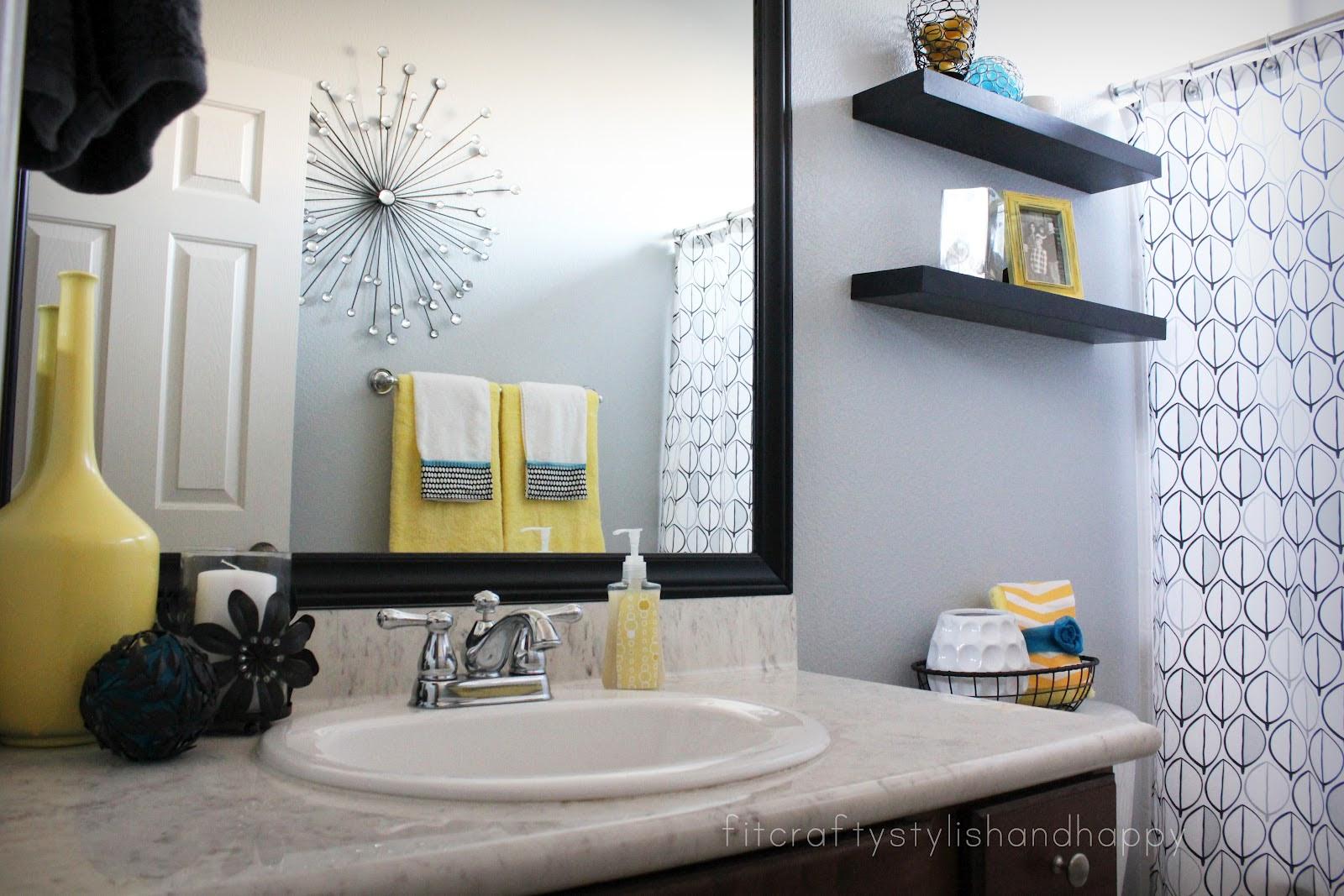 Home Architec Ideas Yellow And Grey Bathroom Ideas