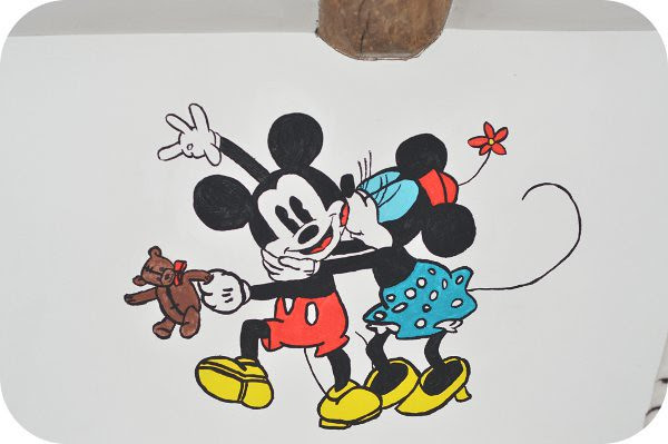 Peinture Minnie Mickey