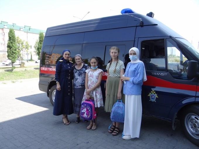 Сотрудники СУСКР поИнгушетии оказали помощь детям вподготовке кновому учебному году