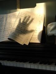my piano, my hand, music