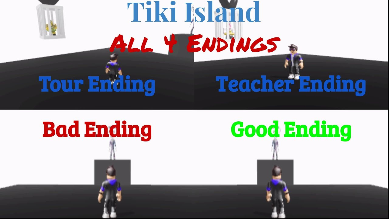 Roblox Tiki Island All 4 Endings Season 1 Episode 4 - bad ending roblox