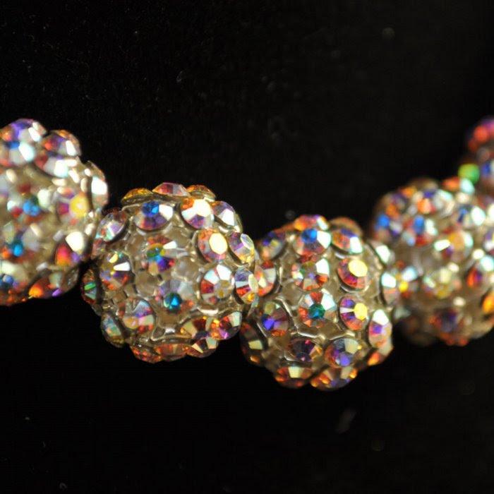 26740512B1001 Rhinestone Bead - 12 mm Crystal Mesh Ball Bead - Crystal AB (1)