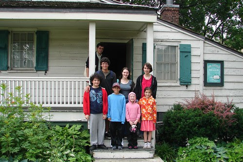 Poe Cottage: our group