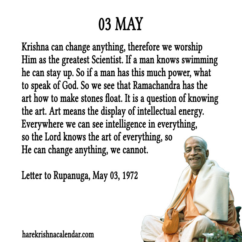 Prabhupada Quotes For The Month Of May 03 Spiritual Quotes By