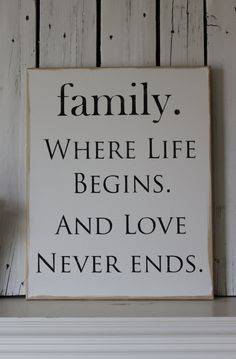 always love your family through the rough times and the best of times
