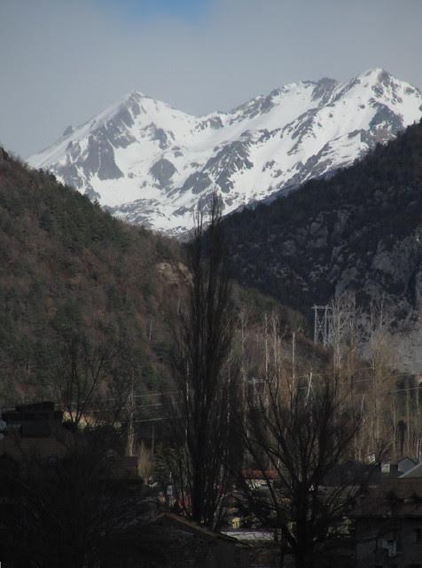 La entrada del Valle, desde Biescas
