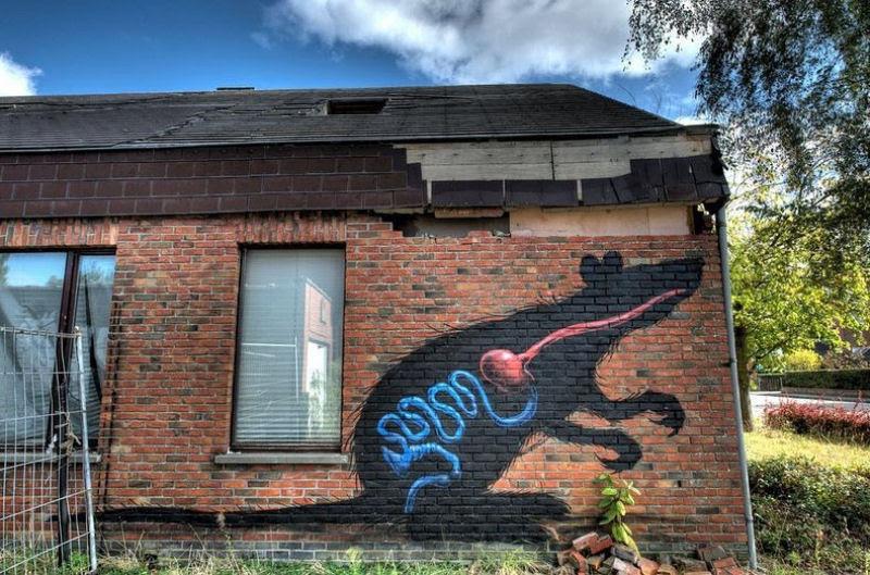 A vila condenada de Doel e sua arte de rua surpreendente 17