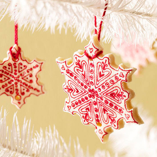Salt-Dough Christmas Tree Ornaments