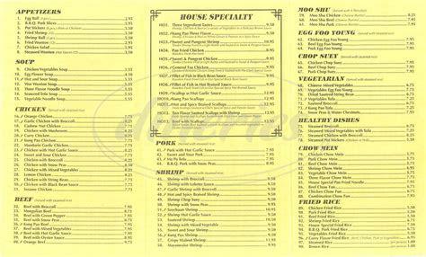 chinese food menu los angeles dineries